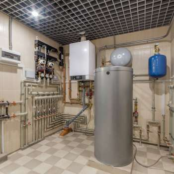 Boiler room heating system